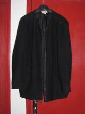 t 44 -46H&M veste manteau noir avec col fourrure noir amovible
