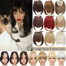 US Real Thick Fringe Bangs Hairpiece Clip In Hair Extensions as Real Human Hair