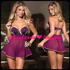 Angela Sexy Lingerie Club LUXURY Gown Hot sex ROBES Dress G-string Sleepwear toy