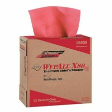 """Wypall 05930 9.1"""" x 16.8"""" Red Hot X80 Pop-Up Box Wipers (80/Pack)"""