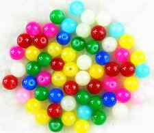 50Pcs 8mm Mixed Color Czech Solid Glass Pearl Round Spacer Loose Beads