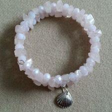 Handmade Natural Rose Quartz Beaded Costume Bracelets