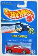 Hot Wheels 1991 Collector #262 1993 Camaro red Blue Card MOC Ultra Hots Wheels