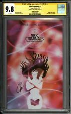 * SEX Criminals #1 Image Expo Variant CGC 9.8 SS Signed Zdarsky (1580612023) *