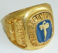 Elvis Presley TCB Memorial Class Ring Museum Gift Limited Edition Blue Enamel