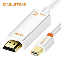 Cabletime Thunderbolt DisplayPort Mini Dp To Hdmi Male To Male DP Cable Adapter