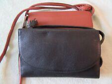 Fossil Sophia Leather Wallet/ Crossbody Black or Brown U Choose NWT Nice $98