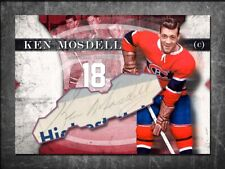 KEN MOSDELL Custom Cut signed autographed card Montreal Canadiens (1)