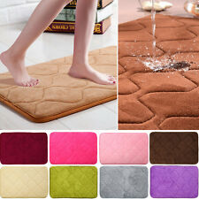 Absorbent Memory Foam Non-slip Bathroom Kitchen Floor Shower Mat Rug Plush J&C