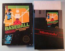1985 Baseball Nintendo NES Video Game & Black Box Hangtab Round Seal 5 Screw