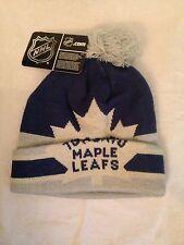 Toronto Maple Leafs NEW Cuffed Winter Hat w/ Pom . NHL Hockey Fan Women Men Cap