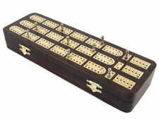 Unique Cribbage Board inlaid with Rosewood / Maple 3 Tracks