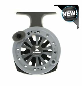 Clam Straight Drop Reel - Left or Right Hand Retrieve - Inline Ice Reel