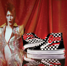Vans David Bowie Limited Edition Checkerboard X DB Sk8-Hi High Top Size 10 Men