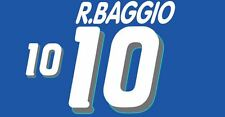 R.Baggio #10 Italy World Cup 1994 Home Football Nameset for shirt