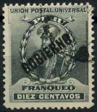 Peru 1896-1900 SG#O350, 10c Black, Official Used #E1294