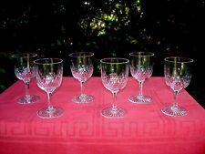 BACCARAT RICHELIEU 10 WINES GLASSES VERRES A VIN CRISTAL TAILLÉ 5777 WEINGLÄSER