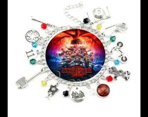 STRANGER THINGS Bracelet Theme Charm Bracelet Birthday Christmas Gift Pouch 245