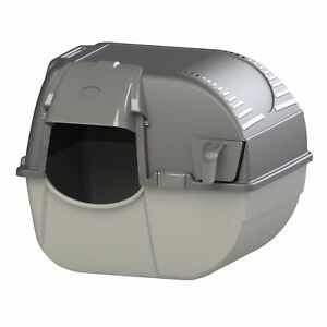 Omega Paw EZ-RA15-1 Self Cleaning Elite Roll N Clean Enclosed Cat Litter Box
