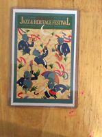 1978 New Orleans Jazz Fest Poster Postcard 4th Charest /& Brousseau