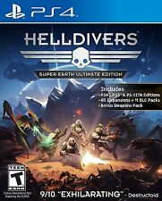 HellDivers Super Earth Ultimate Edition Playstation 4 PS4 Pro Console Ships Fast