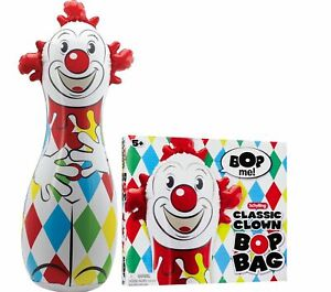"""Schylling 42"""" CLOWN BOP BAG Inflatable Boxing Punching Toy Classic NEW! - SALE!"""