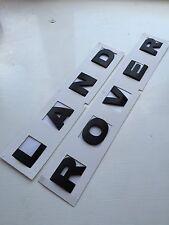 Nero OPACO Cofano Scritta Land Rover Lettere Distintivo Discovery 3 4 Defender