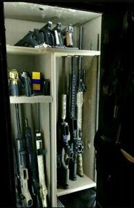 GUN SAFE LIGHT, 5 FULL LENGTH LED's W/ HOOK-n-,LOOP, 110 POWER, MOTION SENSOR