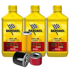 3 lt Aceite Motorrad 4T bardhal BARDAHL Xtc C60 10w40 fricción + Filtro Homenaje