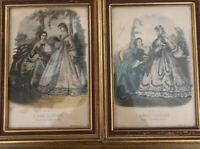 Pair of vintage La Mode Illustree prints