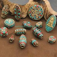 Nepal For DIY Bracelet Necklace Jewelry Making Retro Charms Spacer Beads Brass