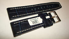 TORGOEN GENUINE FACTORY LEATHER BAND DARK BLUE PATTERN 24MM