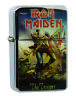 Lighter Iron Maiden Silver Refillable Windproof Oil Petrol Lighter FlipTop