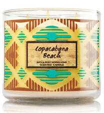 Bath & Body Works COPACABANA BEACH COCONUT  3 Wick 14.5 oz Jar Candle NEW