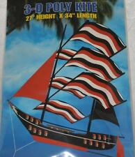 "Spectra Sky Ship KITE Sailing Clipper Pirate 34x27"" BUCS Colors Red Black Vinyl"