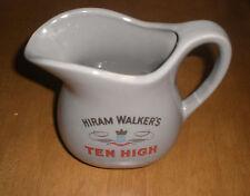 HIRAM WALKER'S TEN HIGH WATER PITCHER