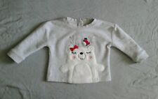 Euc Koala Kids Baby Girl 12-18 Months Polar Bear Sweatshirt Top