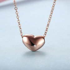 Wholesale 18K Rose Gold Filled Love Heart Pendant Necklace Gift