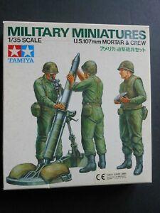 TAMIYA Military Miniatures: US 107mm Mortar and Crew 35119 1:35 Model Kit