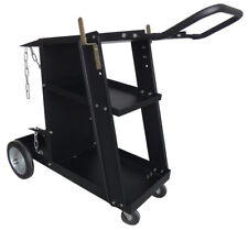 Deluxe Steel V3 Mig Welding Cart for Mig Tig Plasma Machine Fits Welder & Tank