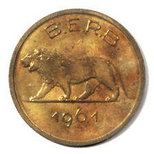 Rwanda-Burundi Belgian Un Mandate Coinage Prowling Lion 1 Franc 1961 B.E.R.B. Un