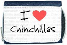 I Love Heart Chinchillas Denim Wallet