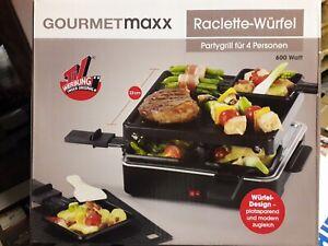 Gourmetmaxx Raclette Grill Tischgrill für 4 Personen in Würfeldesign