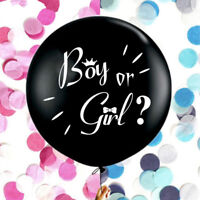 36'' He or She Girl or Boy Balloon Gender Reveal Balloon Baby Shower Party Decor
