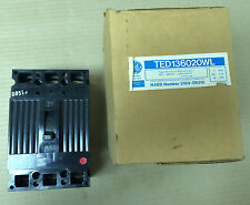 New GE TED 3 pole 20 amp 600v TED136020WL Circuit Breaker TED136020
