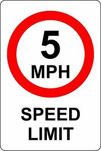 5 MPH Speed Limit safety metal park safety sign