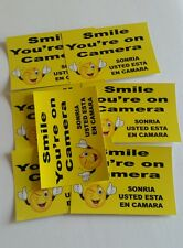 VIDEO SURVEILLANCE Security Decal Warning Sticker (smile you're )set of 7 pcs #4