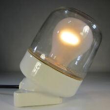 Alte Glaskolbenlampe 60er Jahre Keramik Glas Tischlampe Industrielampe Wandlampe