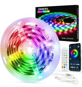 OMERIL 6M RGB Dream Color LED Lights Strip Sync to Music Romote/ App Control