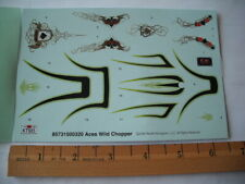 REVELL MONOGRAM ACES WILD CHOPPER  #85-7315  1/12th Scale Decal SHEET ONLY